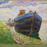 Лодки на реке. Николай Мрачков.