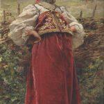 """""""Okolitsa kõrval"""". Gravüür, 1892.К.Manovskij"""