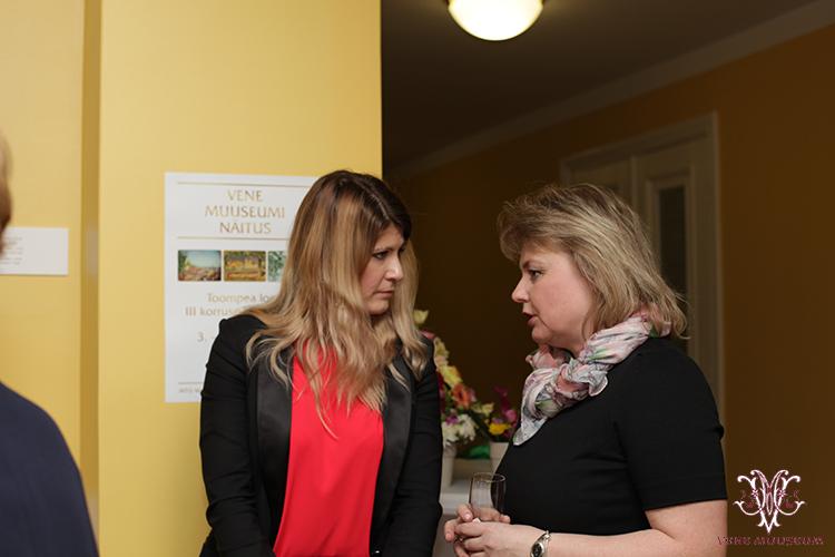 MTÜ Vene Muuseumi juhatuse liige Irina Budrik ning rahvasaadik Viktoria Ladõnskaja (IRL)